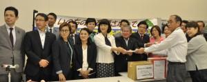 沖縄関連署名の提出集会